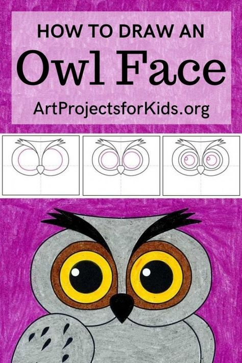 Learn how to draw an Owl with this easy step by step tutorial. #artprojects #artprojectsforkids #drawing #howtodraw #howtodrawforkids #owlart