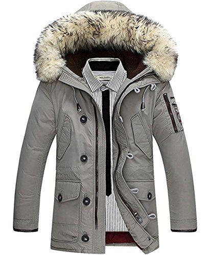 buy popular 1161c 3bb9d Geftterte-Winterjacke-Herren-Winterparka-Verdickte-Parka ...