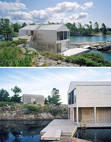 The Floating House By MOS Architects Rests On... | Floating House, Lake  Huron And Architects