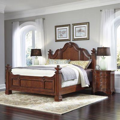 Evoking Classic Renaissance Styling The 3 Pc Santiago King Bed And Nightstands Set Adds Refined Regal Furnish Bedroom Set Bedroom Furniture Sets Bedroom Sets