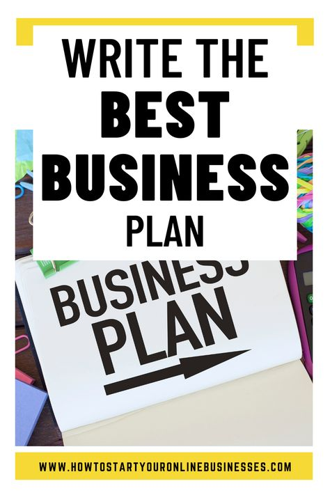 Write The Best Business Plan