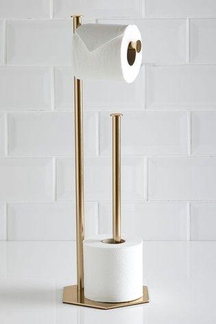 Buy Hexham Toilet Roll Holder From The Next Uk Online Shop Toilet Roll Holder Toilet Paper Stand Toilet Roll Holder Gold