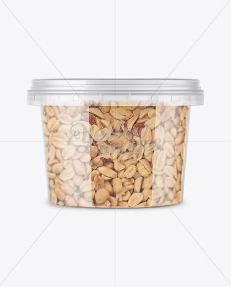 Download Plastic Container W Peanuts Mockup Front View In Pot Tub Mockups On Yellow Images Object Mockups Clear Plastic Containers Plastic Food Containers Plastic Containers