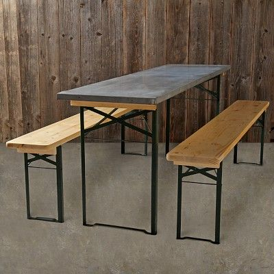 we took inspiration from traditional german biergarten tables for the functional design of our set outdoor furniture