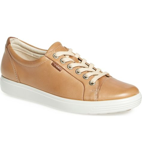 7c697bf11d6c Free shipping and returns on ECCO  Soft 7  Cap Toe Sneaker (Women) at  Nordstrom.com. A monochrome cap toe subtly refines a low-profile