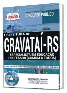 Apostilas Concurso Prefeitura De Gravatai 2018 Garanta Ja Sua