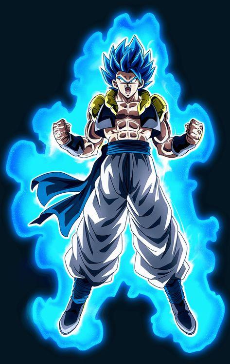 Gogeta Super Saiyan Blue Dragon Ball Super Desenhos De Anime
