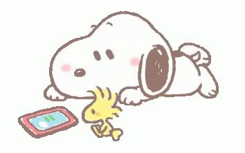 Snoopy Watching GIF - Snoopy Watching Phone - Discover & Share GIFs