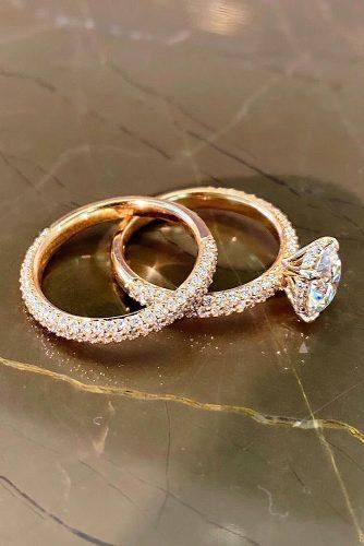 Most Popular Rings: 2019 Engagement Ring Trends ★ ring trends rose gold wedding set cathedral setting diamond ring