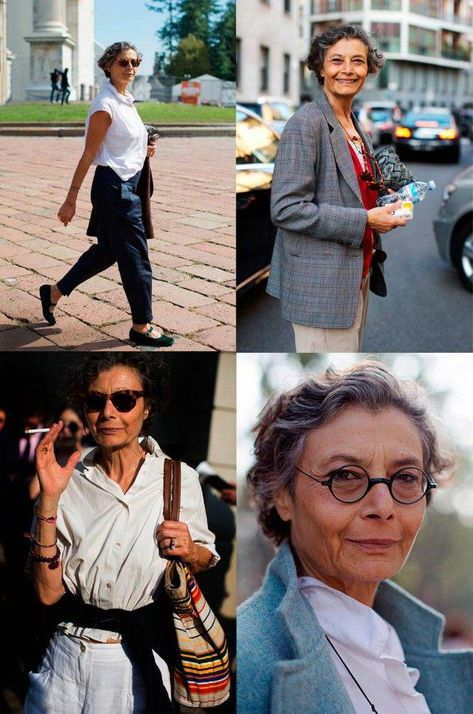 grey hair - The Sartorialist Monday, October 2013 If You're Thinking About…Renata Molho