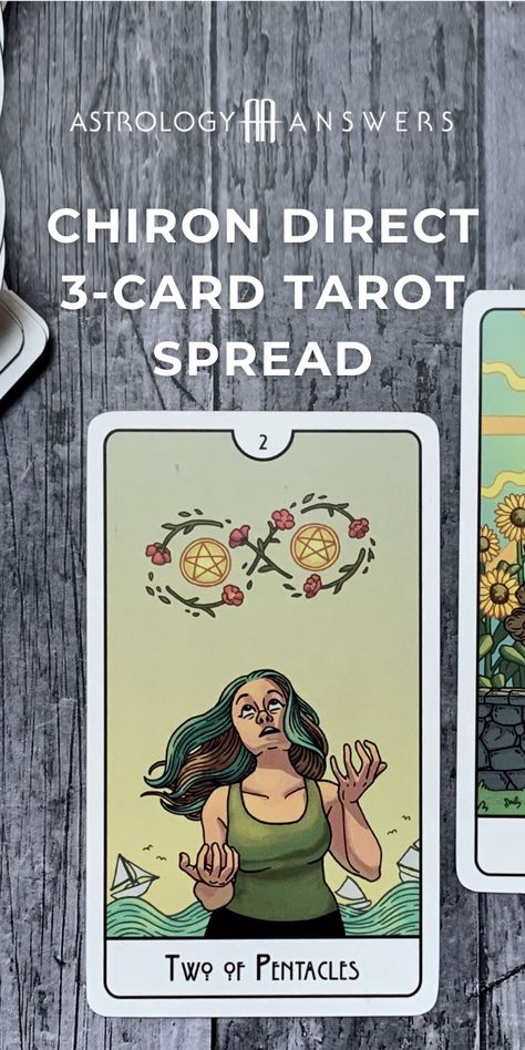 Chiron stations direct in Virgo on December 15th. This Tarot spread offers insights into what you are moving through during this challenging transit. #chiron #chirontarot #tarotspread #astrotarot