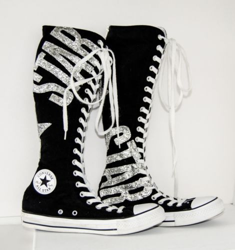 converse kids knee high