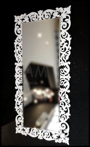 Przepiekne Duze Biale Lustro Rama Z Krysztalkami 7036266927 Oficjalne Archiwum Allegro Mirror Decor Home Decor