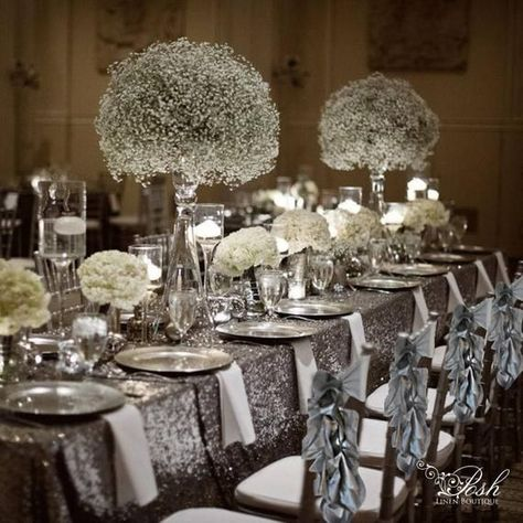 Wedding //Decorations // Wedding Chair Covers // Wedding Chair Decorations // Wedding Chair Sashes // Chiffon Chair Sash // Chivari Chair Sash // Chivari Chair // Chair Sash // Chair Decorations // Wedding Decorations These silver chair sashes are such an