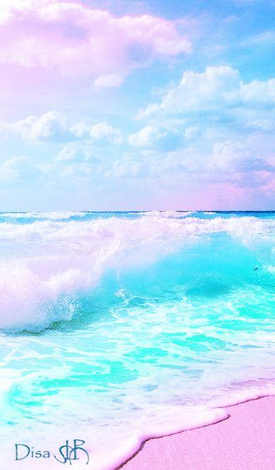 Pink Pastel Beach Water Ocean Waves Tropical Sand Beach Wallpaper Waves Instagram Pastel pink beach wallpaper iphone