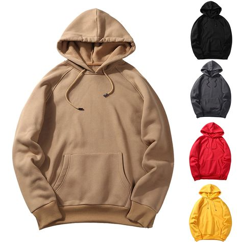 Men Spring Casual Sweatshirts Solid Color Hoodie SF – loveitbabe