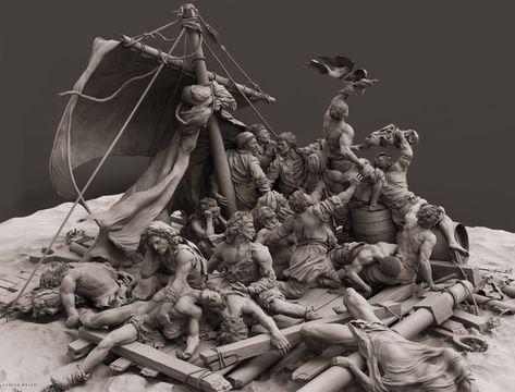 The Raft of the Medusa painting by Théodore Géricault Part III, , komododragon - CGSociety