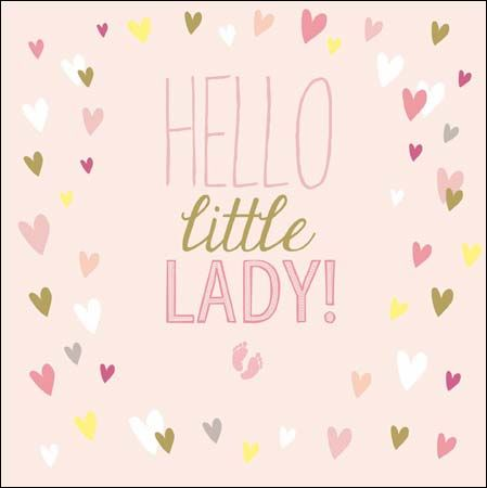 Little Princess, new baby girl greeting card The greeting inside