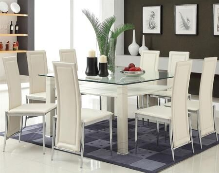 Acme Furniture 70610t8c 1 443 26 Glass Dining Room Sets Modern Kitchen Tables Glass Dining Room Table