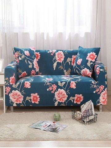Flower Print Design Couch Cover Couch Covers Shabby Chic Couch