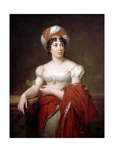 Portrait Of The Author Baronne Anne Louise Germaine De Stael 1766 181 Giclee Print Francois Pascal Simon Gerard Art Com Portrait French Revolution Madame