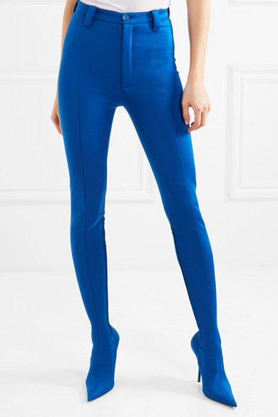 solapa Bourgeon Útil  Blue Pantashoe spandex skinny pants | Balenciaga | Fashion tights,  Wearables fashion, Skinny pants