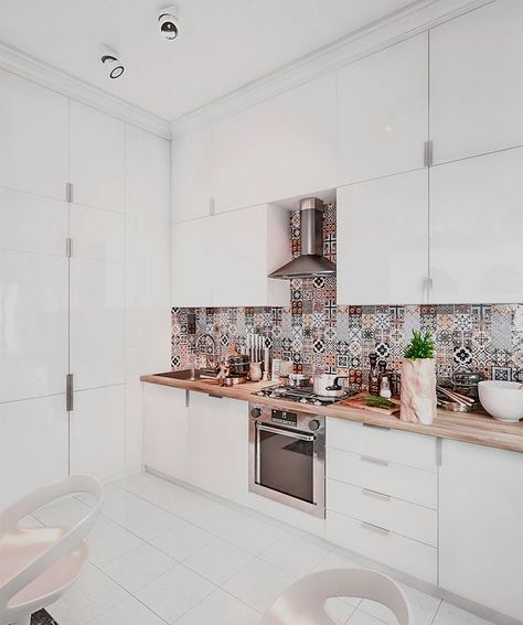 40 Kitchen Cabinet Design Ideas #layout #cupboards #doors #granite #shakerstyle #modern #decor #pantries #openshelves #countertops #small #white #smallspace #hardware