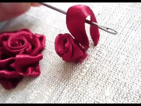 Hand Embroidery stitches tutorial for beginners step by step, how to sew hand embroidery - YouTube