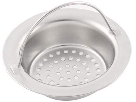 Unique Bargains Kitchen Bath Stainless Steel Handle Mesh Sink Drain Basin Strainer Stopper Sink Drain Kitchen Basin Sink
