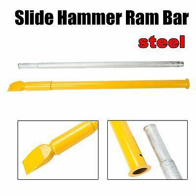 Steel Tire Bead Breaker Slide Hammer Heavy Duty Bar Yellow for Truck Car Trailer