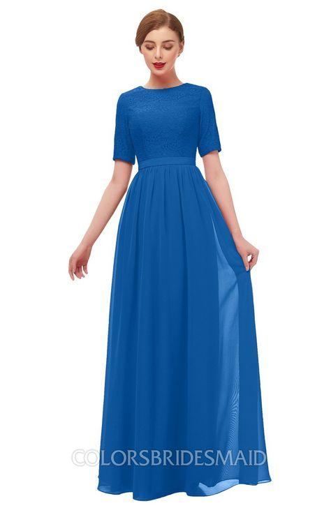 .ColsBM Ansley Bridesmaid Dresses Modest Lace Jewel A-line Elbow Length Sleeve Zip up #colsbm #bridesmaids #bridesmaiddress #weddings