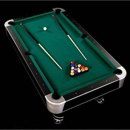 Barrington 90 Arcade Pool Table With Cue Set Accessory Black Green Walmart Com Pool Table Best Pool Tables Pool Table Room