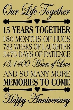 15 Year Anniversary Reusable Plastic Stencil Sign Stencil 15 Year Anniversary 15th Anniversary Quotes Anniversary Wishes For Friends