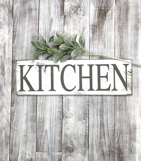 Kitchen Signs Decor Farmhouse White Rustic Home Decor Shabby Chic Custom Decorative Kitchen Signs