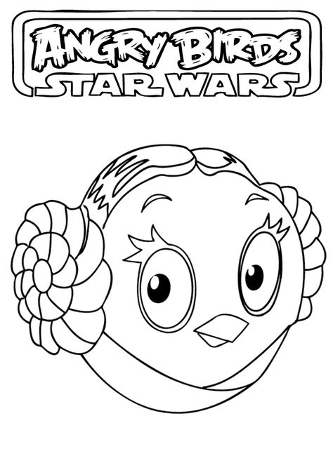 Angry Birds Star Wars Coloring Pages Com Imagens Ideias Para