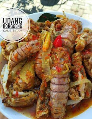 Udang Ronggeng Saus Tiram Makanan Resep Masakan Saus Tiram