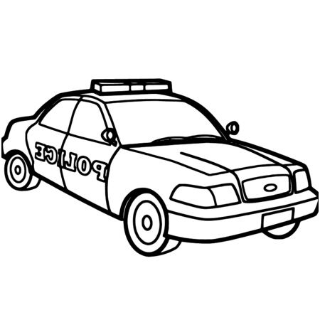 9 Anime Coloriage Police Stock Coloriage Coloriage Voiture De