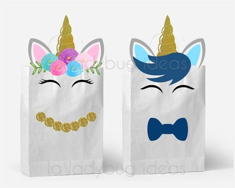 Unicorn Party Bags, Unicorn Birthday Parties, Birthday Dresses, 5th Birthday, Favor Bags, Goodie Bags, Secret Pal Gifts, Unicorn Gift Bags, Party Decoration