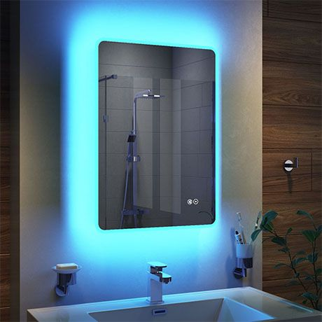 Turin 500x700mm Ambient Colour Change Led Bluetooth Mirror Inc Touch Sensor Anti Fog Modern Bathroom Colours Color Changing Led Bathroom Color