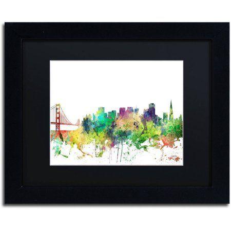 Trademark Fine Art San Francisco California Skyline SP Canvas Art by ...
