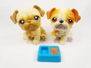 Littlest Pet Shop Lot Of 2 Bulldog 135 And 46 With Accessories