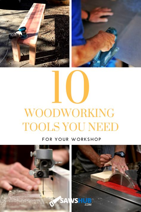 Tackle any DIY project with these essential must have woodworking tools. From a cordless drill to jigsaw to orbital sander to kreg jigs, and many more, come learn the best tools for beginners and advanced woodworkers. #sawshub #cordless #DIY #powersaw #project #jigsaw #tablesaw