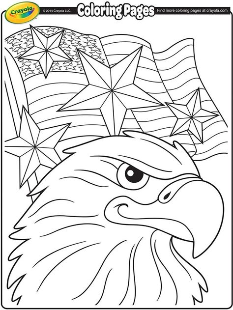 Independence Day Eagle on crayola.com | Coloring pages | Pinterest