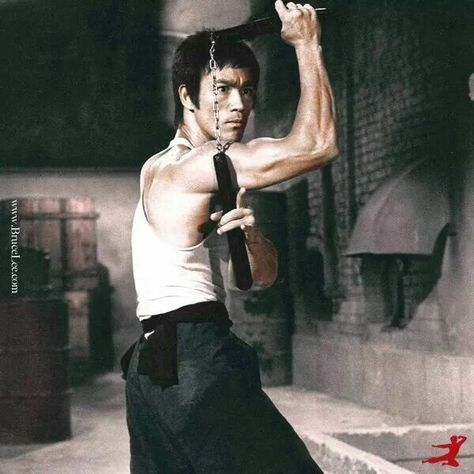 Bruce Lee interlocked.