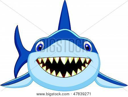 Vector Illustration Of Cute Shark Cartoon Isolated On White Background Poster Id 47839271 Shark Drawing Cute Shark Shark Images