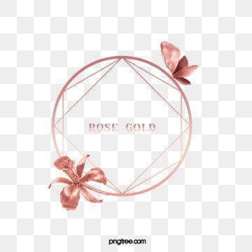 Elegant Butterfly Deluxe Rose Gold Flower Border Png And Psd Rose Gold Flower Rose Gold Painting Flower Border Png