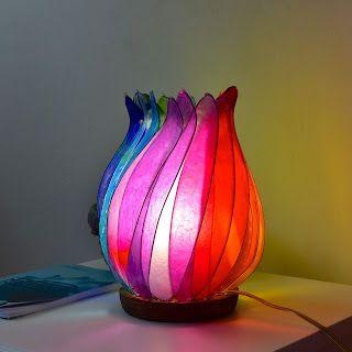 Fiore Di Luce Lampade Artistiche Lampada Da Tavolo Ruota Di Arcobaleno Lampade Da Tavolo Fiori Arcobaleno Lampade