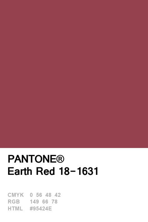 Pantone Earth Red Colour of The Day 09 January - Einrichtungsideen