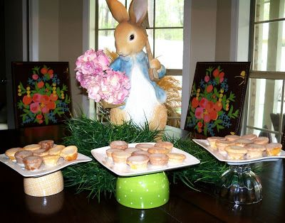 Crafty (and cheap) cake stands and a recipe for yummy Lemon Blossoms..The Creativity Exchange