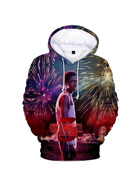 TV Series 3D Stranger Things Hoodies Winter Sweatshirts Fashion Funny Hoodie, 3D-366 / XXL